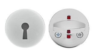Щитки и поворотные кнопки для туалетов